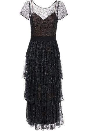Marchesa Notte | Mujer Ruffled Long Tulle Dress 2