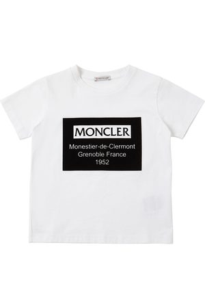 Moncler | Niño Flocked Logo Cotton Jersey T-shirt 8a