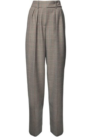 ALEXANDRE VAUTHIER | Mujer Pantalones Príncipe De Gales Con Cintura Alta /negro 34