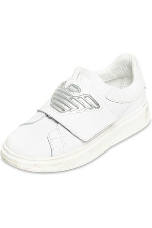 Emporio Armani | Niño Sneakers De Piel Con Correa 35