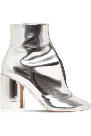 MM6 MAISON MARGIELA | Mujer 90mm Metallic Leather Ankle Boots 36