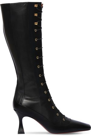 MANU | Mujer 80mm Duck Leather Lace-up Boots 35