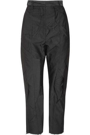 MM6 MAISON MARGIELA | Mujer Pantalones Rectos De Crepé Efecto Arrugado 36