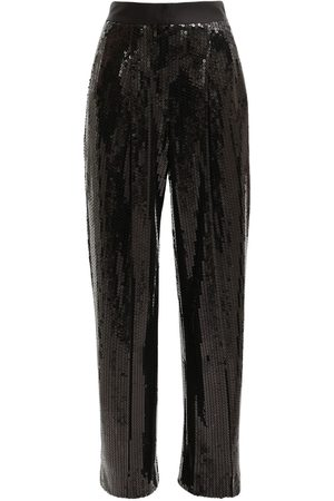 Alessandra Rich | Mujer High Waist Sequin Wide Leg Pants 36