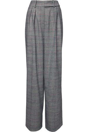 ALEXANDRE VAUTHIER | Mujer Pantalones Príncipe De Gales Con Cintura Alta 34
