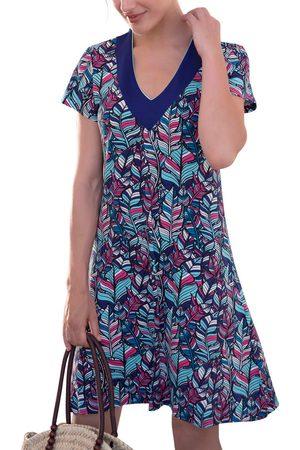 Admas Vestido Vestido de playa Plumas para mujer