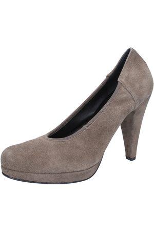 Calpierre Mujer Tacón - Zapatos de tacón de salón gamuza AJ405 para mujer