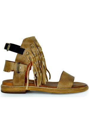 Exé Shoes Mujer Sandalias - Sandalias SANDALIA PLANA FLECOS TAUPE CRISTINA-02 para mujer