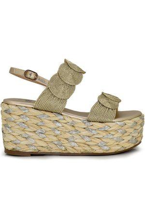 Exé Shoes Sandalias SANDALIA PLATAFORMA ESPARTO BORDADO GOLD OLIVIA-222 para mujer
