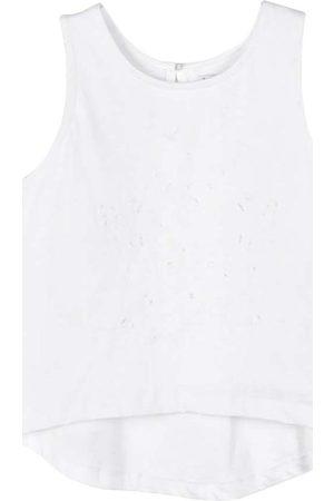 Mayoral Blusa Camiseta tirantes bordada para niña