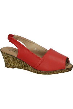 H.f Shoes Sandalias Alpargatas rojas para mujer
