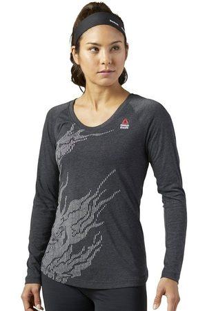 Reebok Camiseta manga larga Crossfit Burnout para mujer