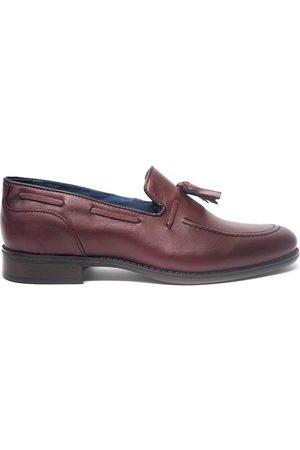 La Valenciana Mocasines Zapatos 4204 Burdeos para hombre
