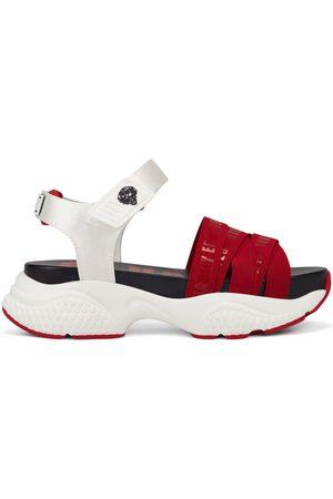 ED HARDY Mujer Sandalias - Sandalias - Overlap sandal red/white para mujer