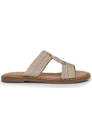 Exé Shoes Mujer Sandalias - Sandalias SANDALIA PLANA CON DETALLE DORADO ALLISON-133 para mujer