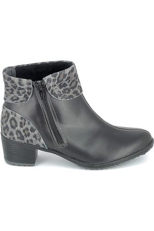 Boissy Botines Boots Noir Leopard para mujer