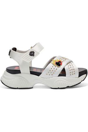 ED HARDY Sandalias - Flaming sandal white para mujer