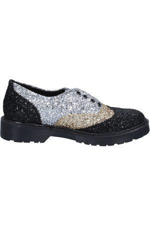 2 stars Zapatos Mujer elegantes dorado glitter plata BX379 para mujer
