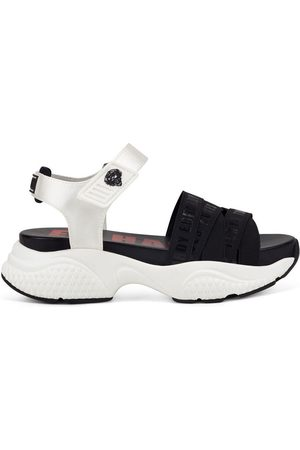 ED HARDY Sandalias - Overlap sandal black/white para mujer