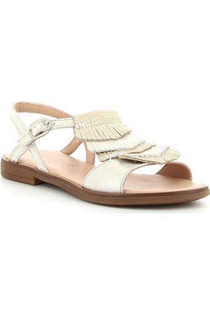 Acebo's Sandalias 9821 Platino para niña