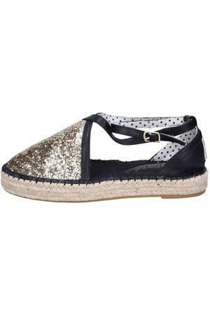 O-joo Alpargatas sandalias glitter cuero sintético para mujer