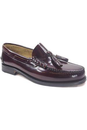 La Valenciana Mocasines Zapatos 3270 Burdeos para hombre
