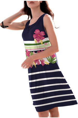 Admas Vestido Vestido de playa Flores la Marina para mujer