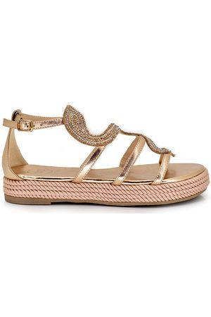 Exé Shoes Sandalias SANDALIA PLATAFORMA CON TIRA BRILLANTE 6522-1 para mujer
