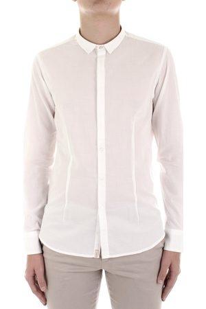 Bicolore Camisa manga larga F3709-MUSSOLA para hombre