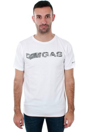 GAS Camiseta GATS01 JUNGLE T-SHIRT AB30 WHITE JUNGLE para hombre