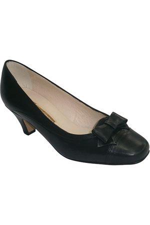 Pomares Vazquez Bailarinas Zapatos tacón medio con lazo en el empei para mujer