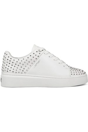 ED HARDY Zapatillas - Stud-ed low top white/silver para mujer