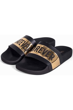 THE WHITE BRAND Chanclas Whatever gold para hombre