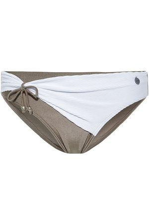 Beachlife Bañador Medias de traje baño plisadas White para mujer