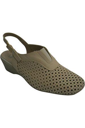 Pomares Vazquez Zapatos de tacón Zapato calado mujer abierto atrás para mujer