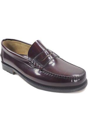 La Valenciana Mocasines Zapatos 3266 Burdeos para hombre