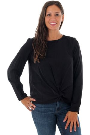 Vero Moda Blusa 10222139 VMSTANLY KNOT L/S TOP COLOR BLACK para mujer