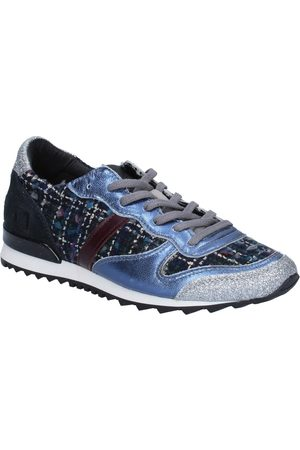D.A.T.E. Zapatillas sneakers textil plata glitter BX59 para mujer