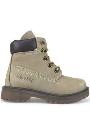 Didiblu Botines botines beige cuero de ante marrón AJ959 para niña