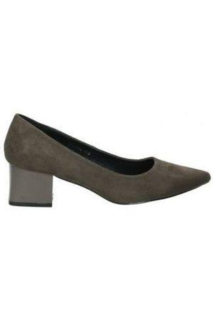 D'angela Zapatos de tacón Zapatos doz11666-m señora marron para mujer