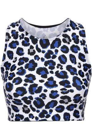 Adam Selman Sport | Mujer Leo Print Racer Back Crop Top /multicolor Xs