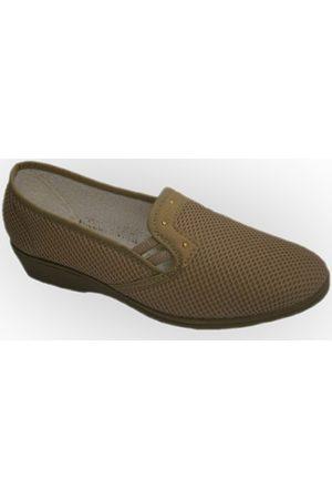 Calzacomodo Mujer Zapatillas - Mocasines Zapatilla tela de rejilla con cuña media para mujer