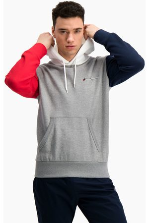 Champion Jersey Sudadera con capucha en bloque de color en contraste para hombre