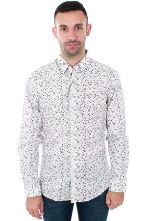 Jack & Jones Camisa manga larga 12141539 JPRLAKE SHIRT LS AOP WHITE FLOWER para hombre
