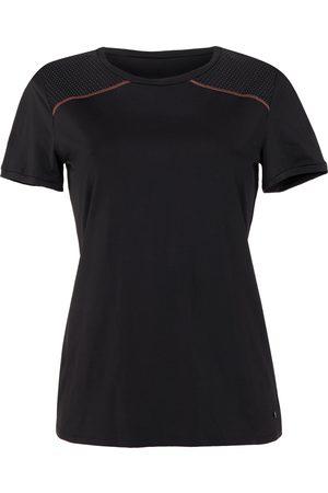 Lisca Camiseta Energy Cheek camiseta deportiva de manga corta negra para mujer