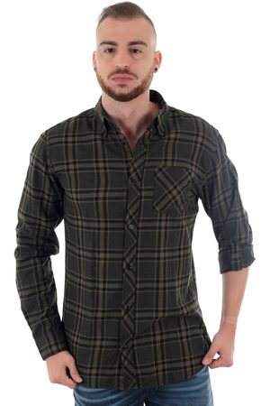 Jack & Jones Camisa manga larga 12157780 JCOCLAYTON SHIRT LS WORKER FOREST NIGHT SLIM para hombre