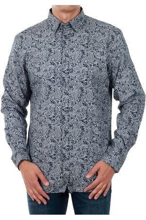 Jack & Jones Camisa manga larga 12141868 JPRANTONIO SHIRT L/S LTD NAVY BLAZER/WHITE FL para hombre