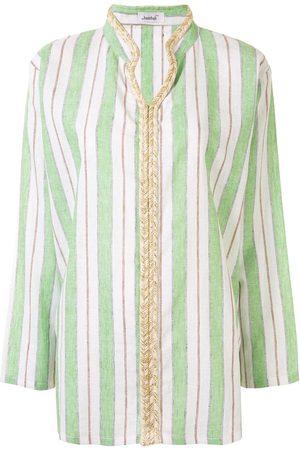Bambah Mujer Camisas - Camisa a rayas con cuello en V