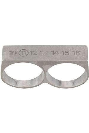 Maison Margiela Numbers double silver ring