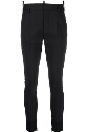 Dsquared2 Mujer Pantalones slim y skinny - Pantalones slim con logo estampado